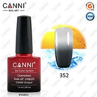 Термо гель-лак Canni №352 (темный серый - светлый серый)  7,3 мл