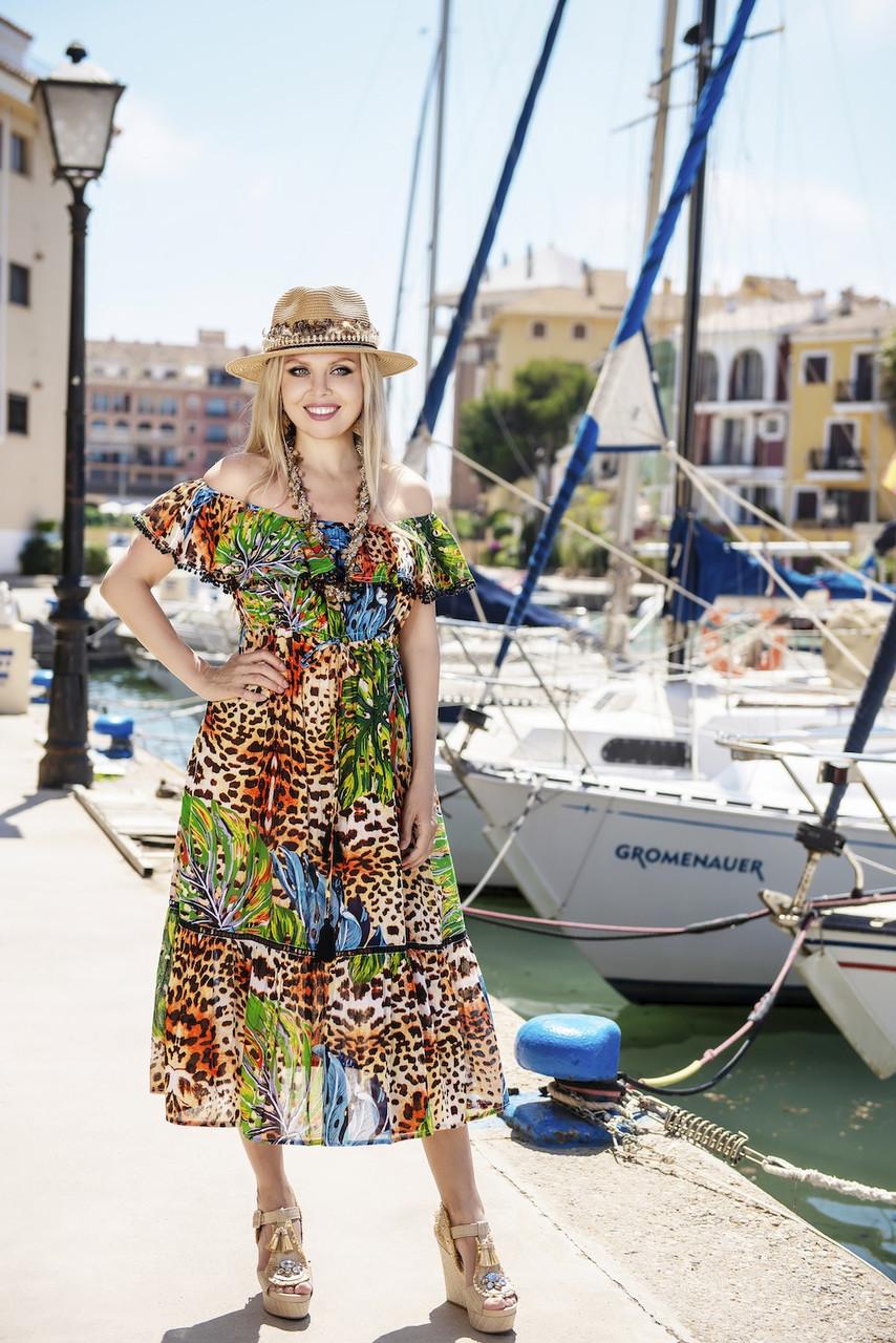 Пляжное платье открытые плечи AnastaSea 2551 A-83C 46(L) Цветной