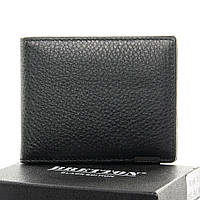 Кошелёк мужской кожаный BRETTON  10.5*8.5*1.5 черный, фото 1