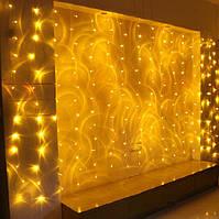Шторы LED теплый желтый