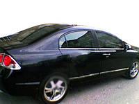 Honda Civic Sedan VIII 2006-2011 гг. Нижняя окантовка стекол (6 шт, нерж)