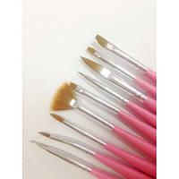 Набор кистей для дизайна ногтей, 9шт