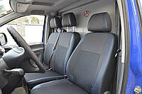 Mercedes Vito W639 2004-2015 гг. Авточехлы (кожзам ткань, Premium) 1-20212, англиец