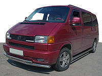 Volkswagen T4 Caravelle/Multivan Нижня подвійна губа ST014 (нерж) 60/42мм