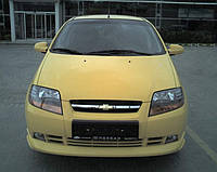 Chevrolet Aveo T200 2002-2008 гг. Накладка на передний бампер (под покраску)