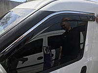 Fiat Doblo III nuovo 2010↗ и 2015↗ гг. Ветровики с хромом (4 шт, Niken)