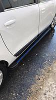 Opel Movano 2004-2010 гг. Боковые пороги Maya Blue (2 шт., алюминий) Длинная база