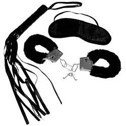 Набір для початківців Sex and Mischief - Intro to S&M Kit Black (наручники, маска, флоггер)