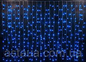Шторы LED синий