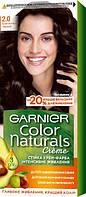 Крем-фарба для волосся Garnier Color Naturals, 2.0 Елегантний чорний