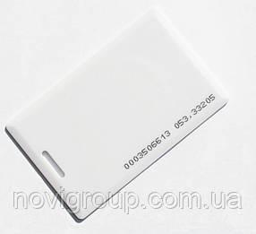 Безконтактна картка Em-Marine (TK4100), товщина 1.6 мм. Робоча частота 125 КГц (БЕЗ КОДУ, ДЛЯ ПЕРЕЗАПИСУ )