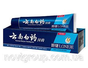 Зубна паста з системою дбайливого відбілювання зубів Lang Jian + White 86% Toothpaste, для курців, 180гр