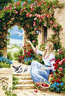 Набор для вышивки крестиком Вестник счастья 24 х 355 см ( полная зашивка счетный крест ) Чарівна Мить