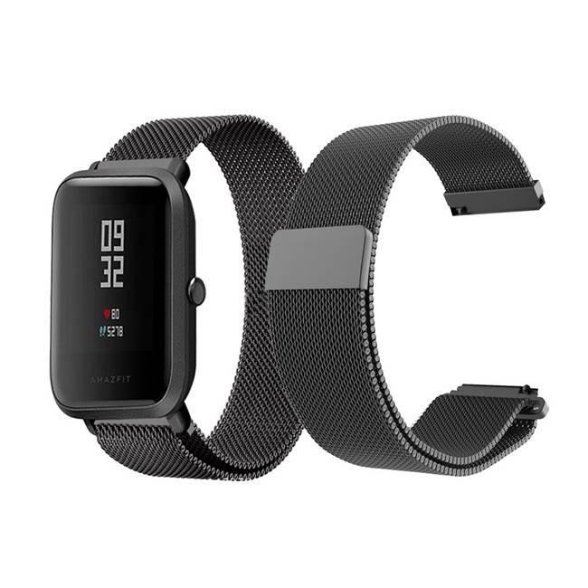 Ремінець BeWatch міланська петля для Xiaomi Amazfit BIP Чорний (1010201)