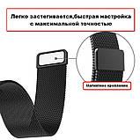 Ремінець BeWatch міланська петля для Xiaomi Amazfit BIP Чорний (1010201), фото 3