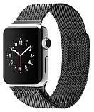 Ремінець BeWatch для Apple Watch міланська петля 42 мм / 44 мм Чорний (1060201), фото 2