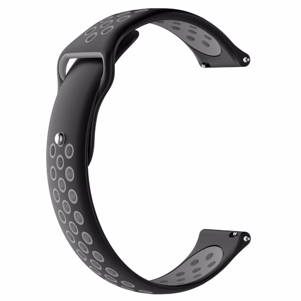 Ремешок BeWatch sport-style 22 мм для смарт-часов Samsung Gear S3 Черно-серый (1020114)