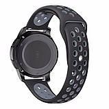 Ремешок BeWatch sport-style 22 мм для смарт-часов Samsung Gear S3 Черно-серый (1020114), фото 3
