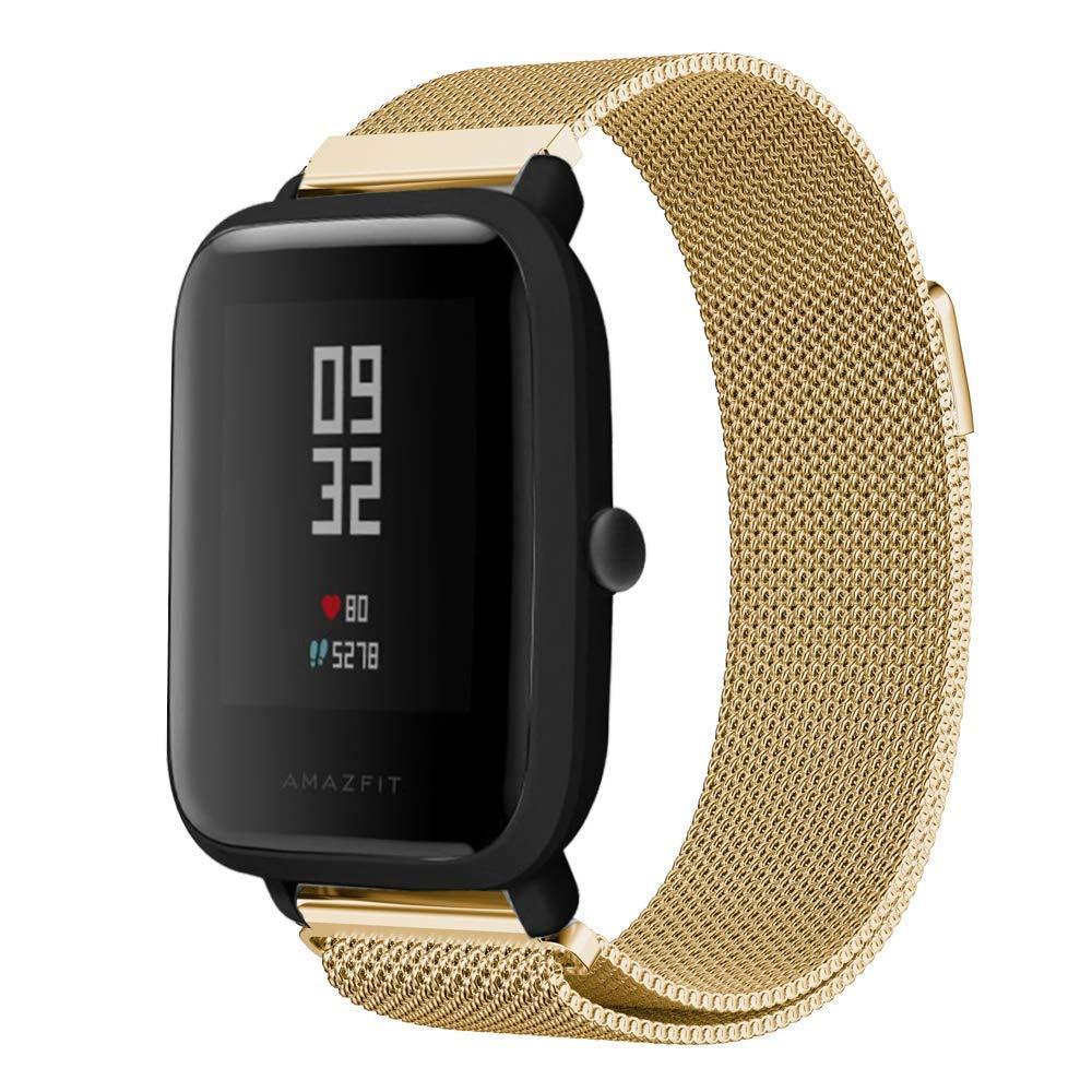 Ремінець BeWatch міланська петля для Xiaomi Amazfit BIP Золото (1010228)