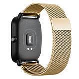 Ремінець BeWatch міланська петля для Xiaomi Amazfit BIP Золото (1010228), фото 2