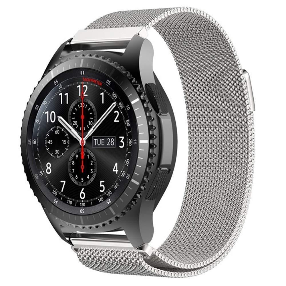 Ремінець BeWatch міланська петля для Samsung Galaxy Watch 46 мм Срібло (1020205.2)