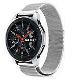 Ремінець BeWatch міланська петля для Samsung Galaxy Watch 46 мм Срібло (1020205.2), фото 4