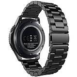 Стальной ремешок браслет для смарт-часов BeWatch для Samsung Galaxy Watch 46 мм Черный (1020401), фото 2