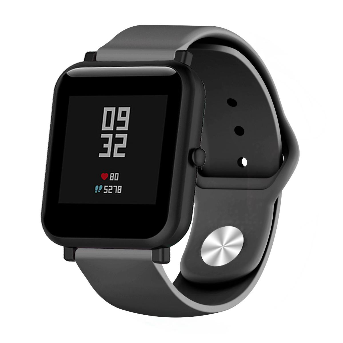 Ремешок BeWatch силиконовый для Xiaomi Amazfit BIP Черный (1010301)