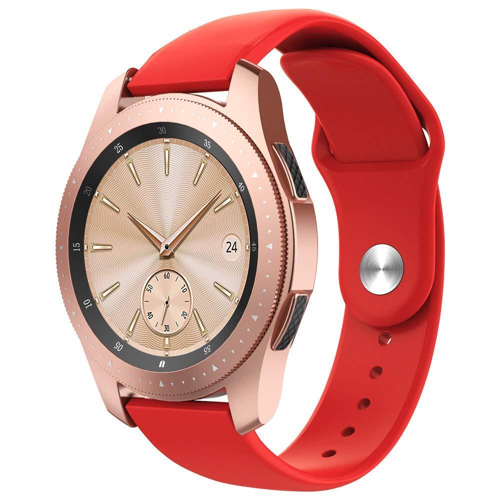 Ремінець BeWatch силіконовий для Samsung Galaxy Watch 42 мм Червоний (1010303.2)
