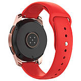 Ремінець BeWatch силіконовий для Samsung Galaxy Watch 42 мм Червоний (1010303.2), фото 2