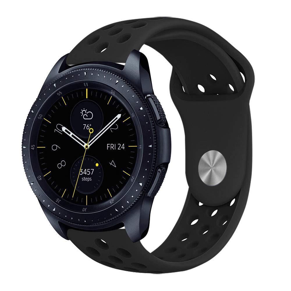 Ремешок BeWatch sport-style для Samsung Galaxy Watch 42 мм Черный (1010101.2)