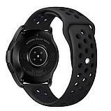 Ремешок BeWatch sport-style для Samsung Galaxy Watch 42 мм Черный (1010101.2), фото 3