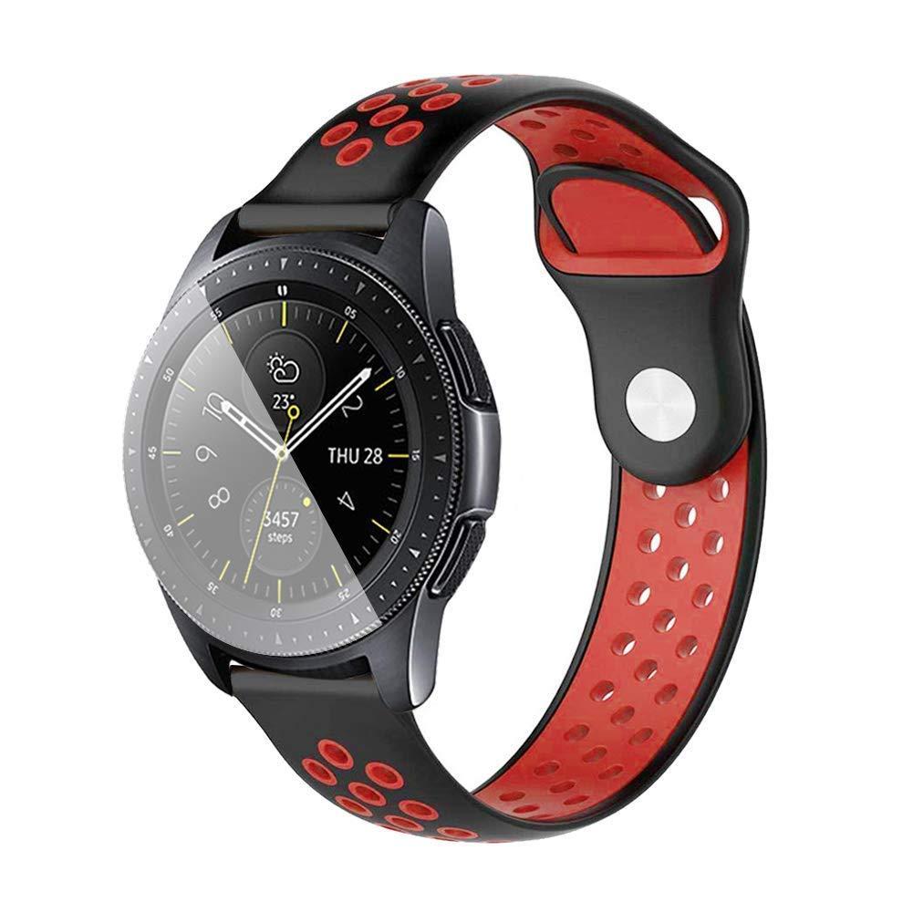 Ремінець BeWatch sport-style для Samsung Galaxy Watch 42 мм Чорно-Червоний (1010113.2)