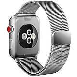 Ремешок BeWatch миланская петля для Apple Watch 38 мм Серебристый (1050218), фото 2