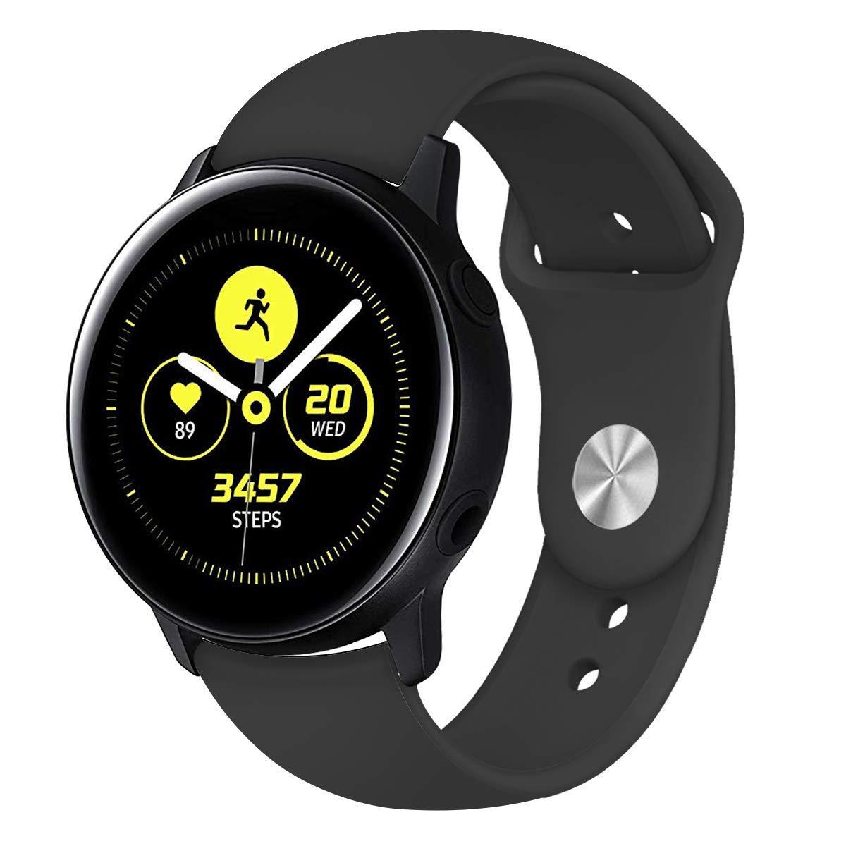 Ремінець BeWatch для Samsung Galaxy watch Active Чорний (1010301)