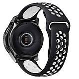 Ремешок силиконовый BeWatch для смарт-часов Samsung Gear S3 Черно-Белый (1020112.2), фото 2