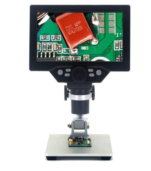 Цифровий мікроскоп з екраном на штативі (1-1200X, 7 дюймів, 12MP) WALCOM G1200