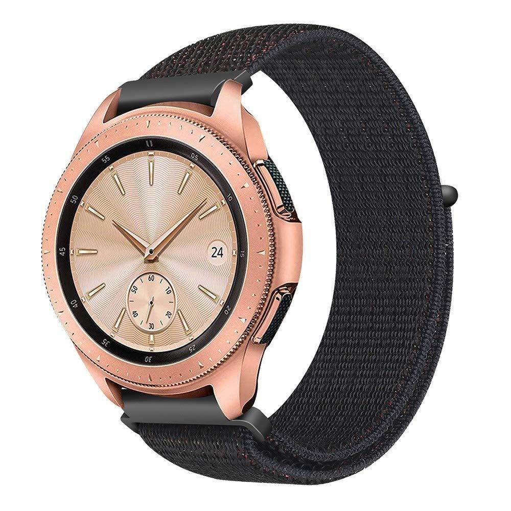Ремешок BeWatch нейлоновый липучка для Samsung Galaxy Watch 42 мм Черный (1011301.1)