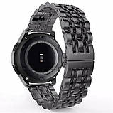 Ремінець BeWatch classic сталевий Link для Samsung Gear S3 Black (1021401), фото 2
