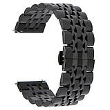 Ремінець BeWatch classic сталевий Link для Samsung Gear S3 Black (1021401), фото 3