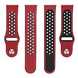 Ремешок BeWatch sport-style для Samsung galaxy watch 46 мм Red-Black (1020131), фото 3