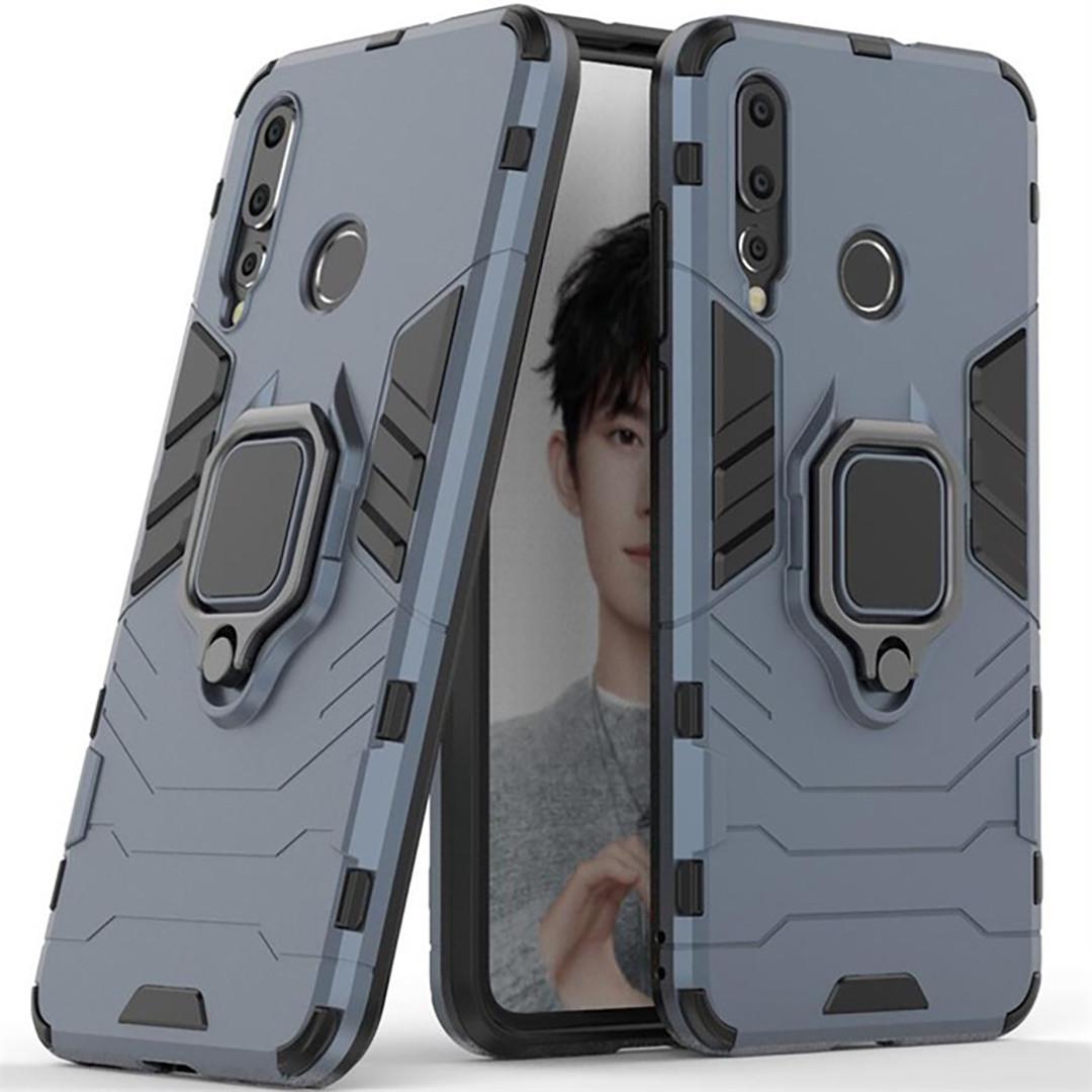 Чехол Ring Armor для Huawei Nova 4 Синий (hub_gUQz60841)