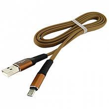 Дата кабель Walker C750 micro USB to USB 1 м Brown (hub_MHCd51541)