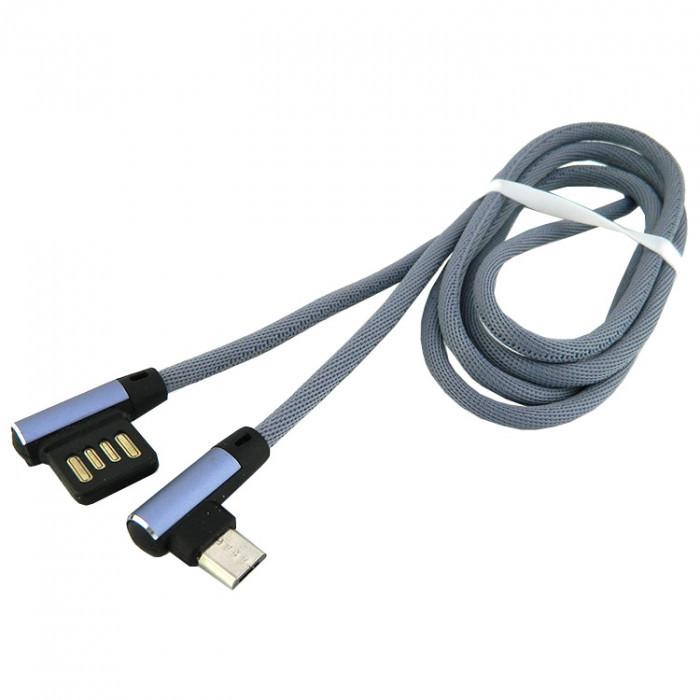 Дата кабель Walker C770 micro USB to USB 1 м Grey (hub_yiKW61591)