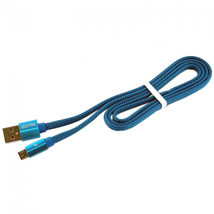 Дата кабель Walker C755 micro USB to USB 1 м Blue (hub_Shdj88215)
