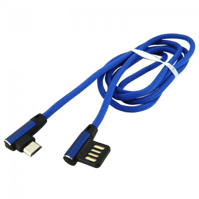 Дата кабель Walker C770 micro USB to USB 1 м Dark Blue (hub_rSDE42015)