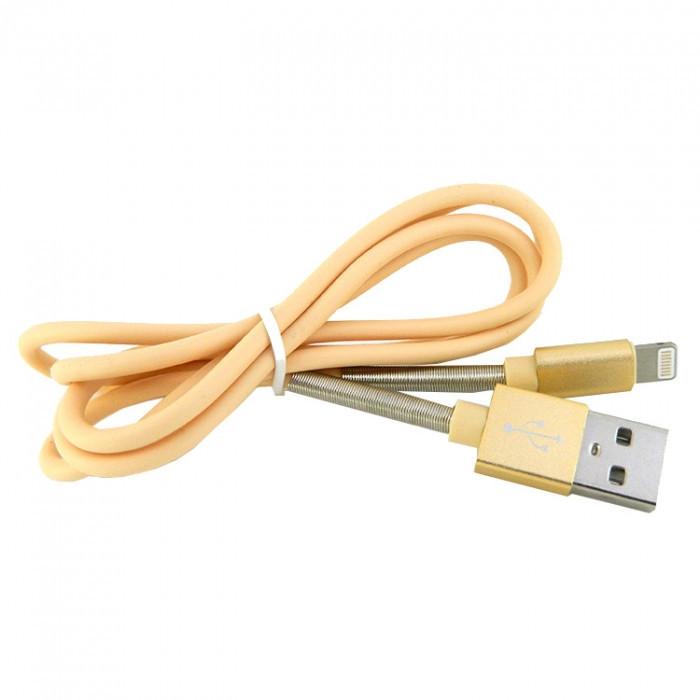 Дата кабель Walker C720 Apple Lightning to USB 1 м Gold (hub_GfeA38992)