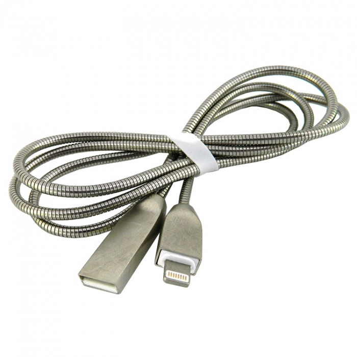 Дата кабель Walker C730 Apple Lightning to USB 1 м Silver (hub_YDaG64034)