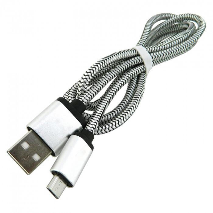 Дата кабель Walker C510 micro USB to USB 1 м Silver (hub_IGiR62631)