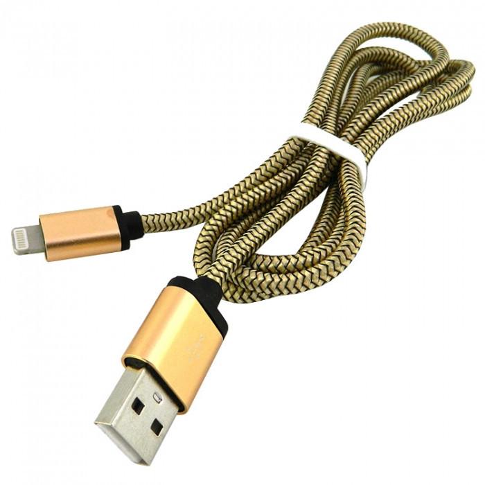 Дата кабель Walker C510 Apple Lightning to USB 1 м Gold (hub_JuDu18950)